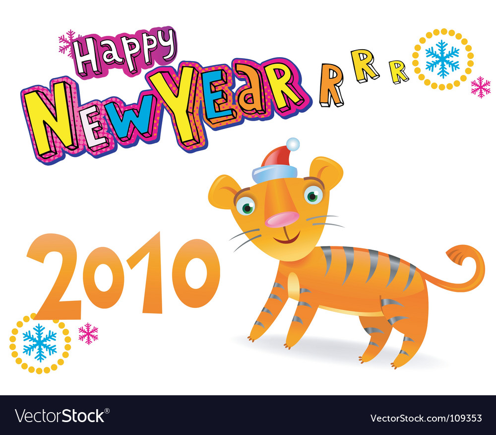 Happy new year 2010 vector | Price: 1 Credit (USD $1)