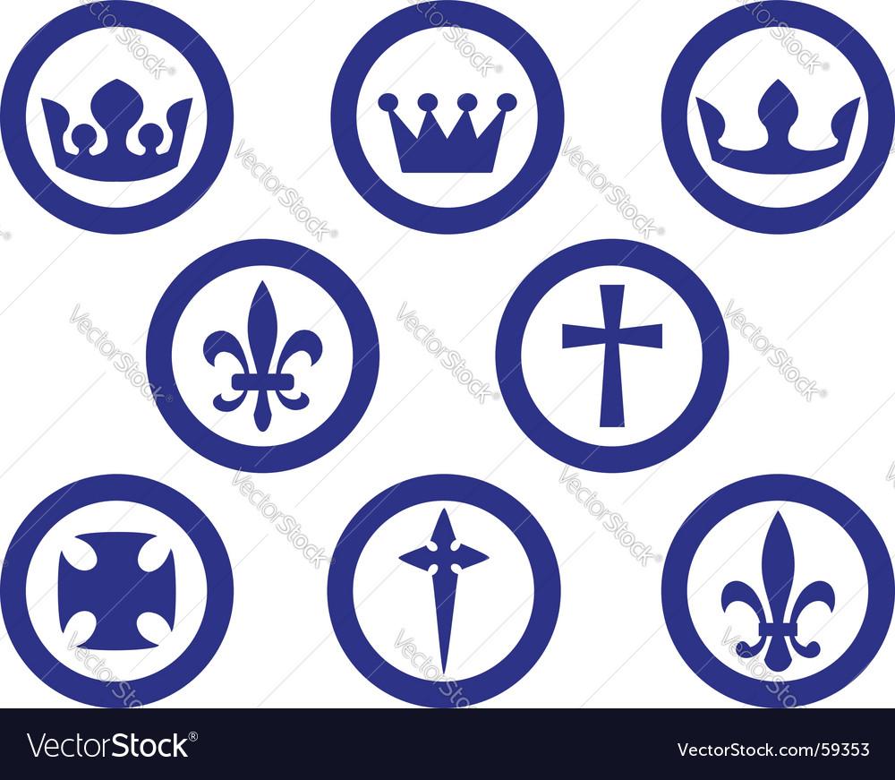 Heraldry emblems vector | Price: 1 Credit (USD $1)