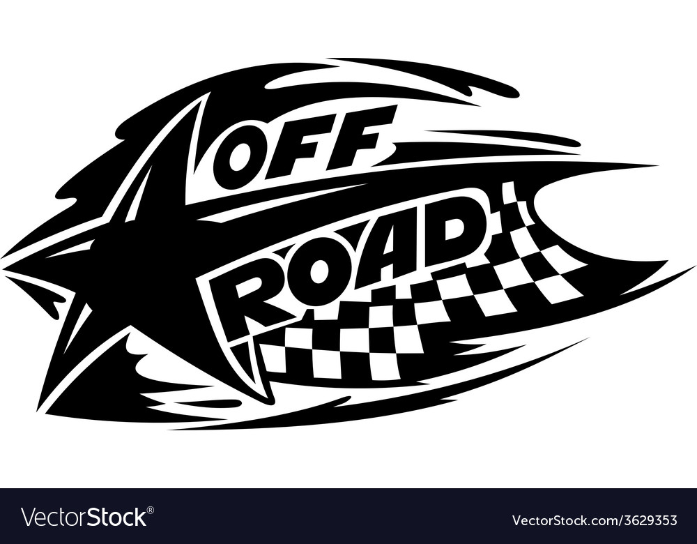 Off road motor sport event icon vector | Price: 1 Credit (USD $1)