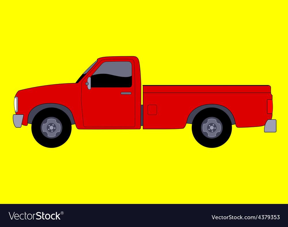 Pick up truck vector | Price: 1 Credit (USD $1)