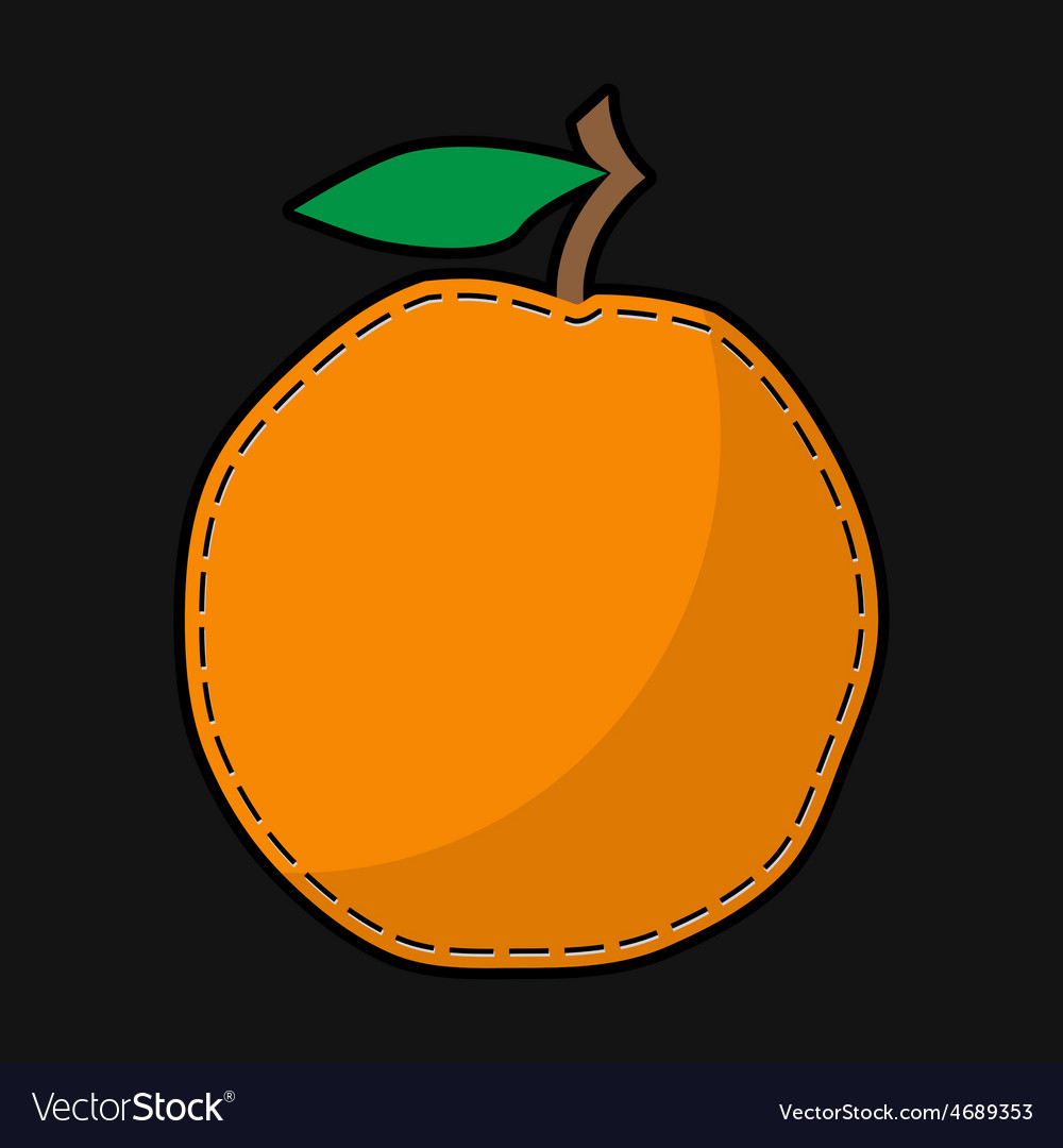 Seam orange with shadow vector | Price: 1 Credit (USD $1)