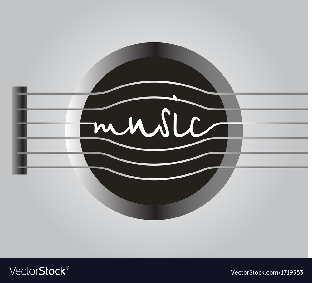 Word music from the guitar strings vector | Price: 1 Credit (USD $1)