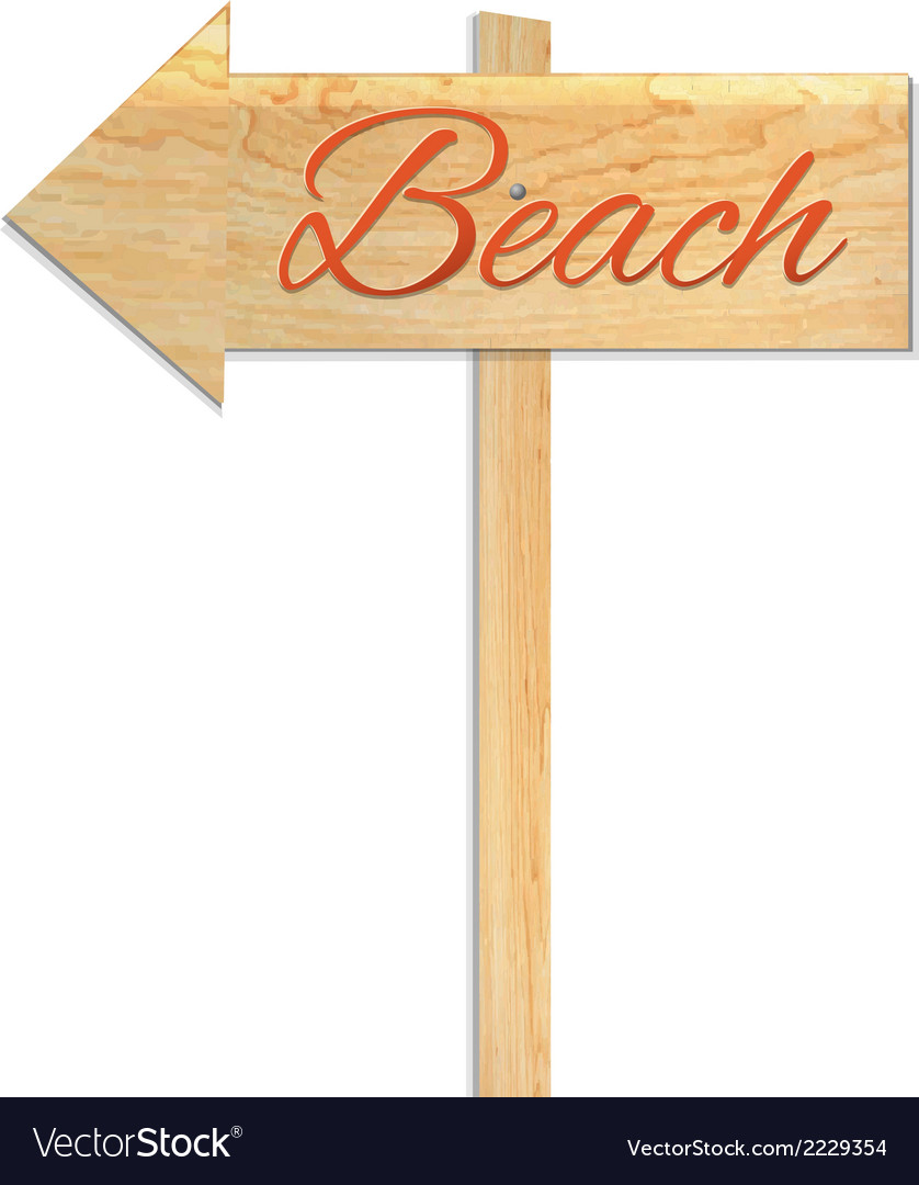Beach sign vector | Price: 1 Credit (USD $1)