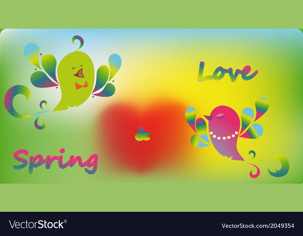 Bird spring vector | Price: 1 Credit (USD $1)