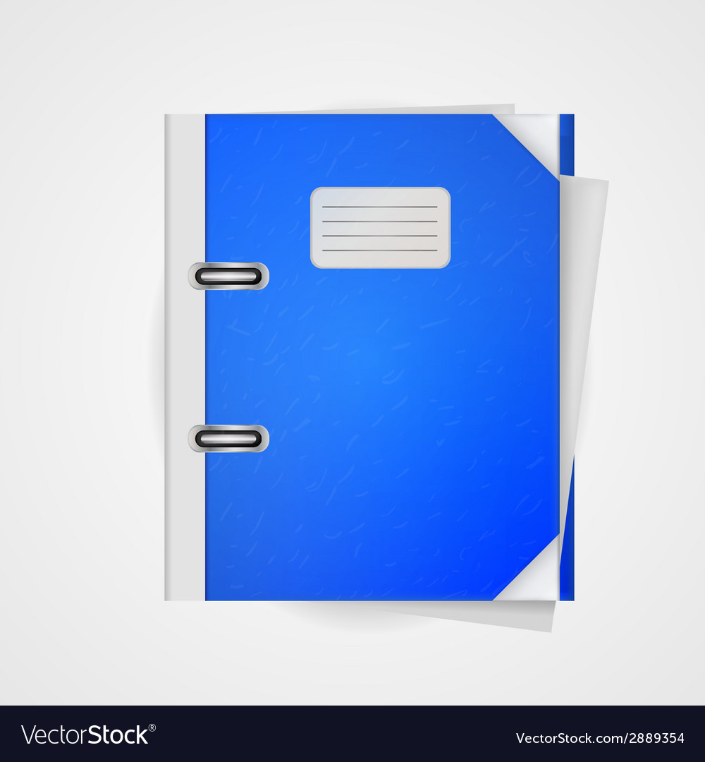 Blue folder vector | Price: 1 Credit (USD $1)