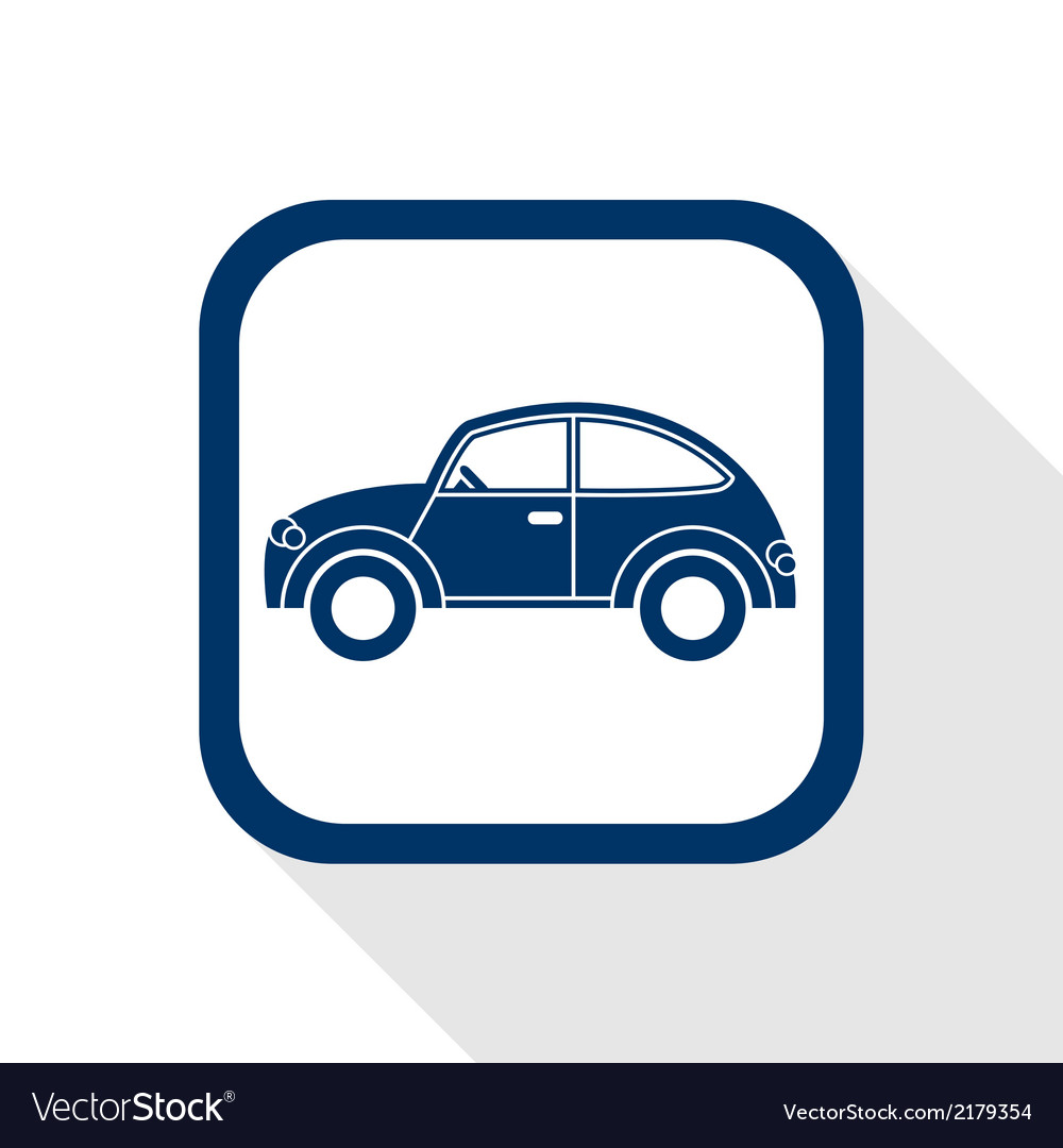 Car flat icon vector | Price: 1 Credit (USD $1)