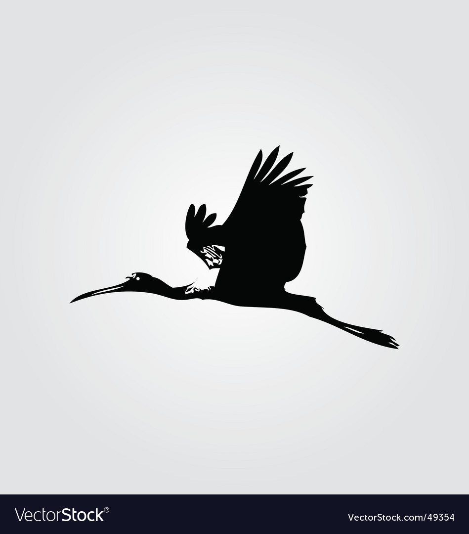 Flying heron vector | Price: 1 Credit (USD $1)