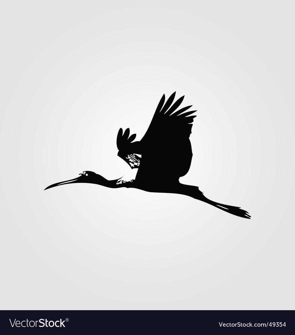 Flying heron vector | Price: 1 Credit (USD $1)