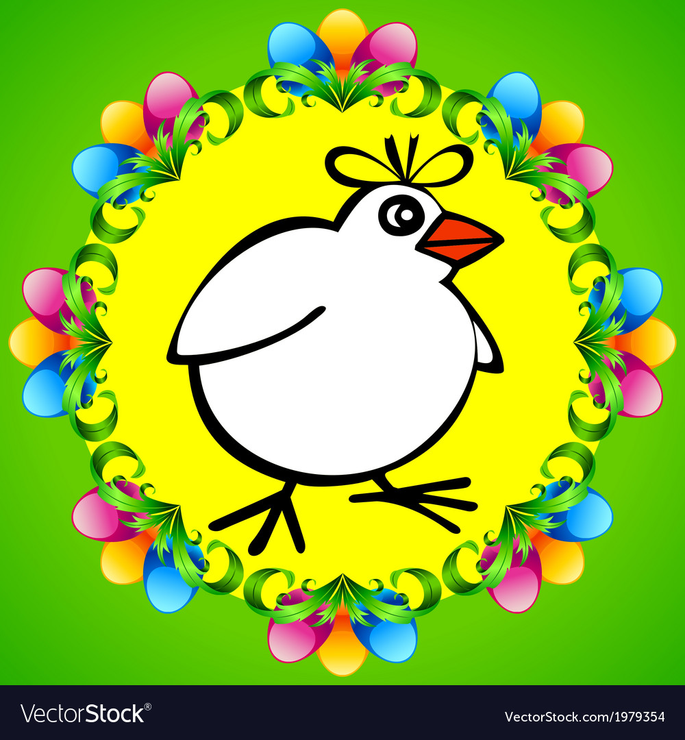 Spring chicken vector | Price: 1 Credit (USD $1)