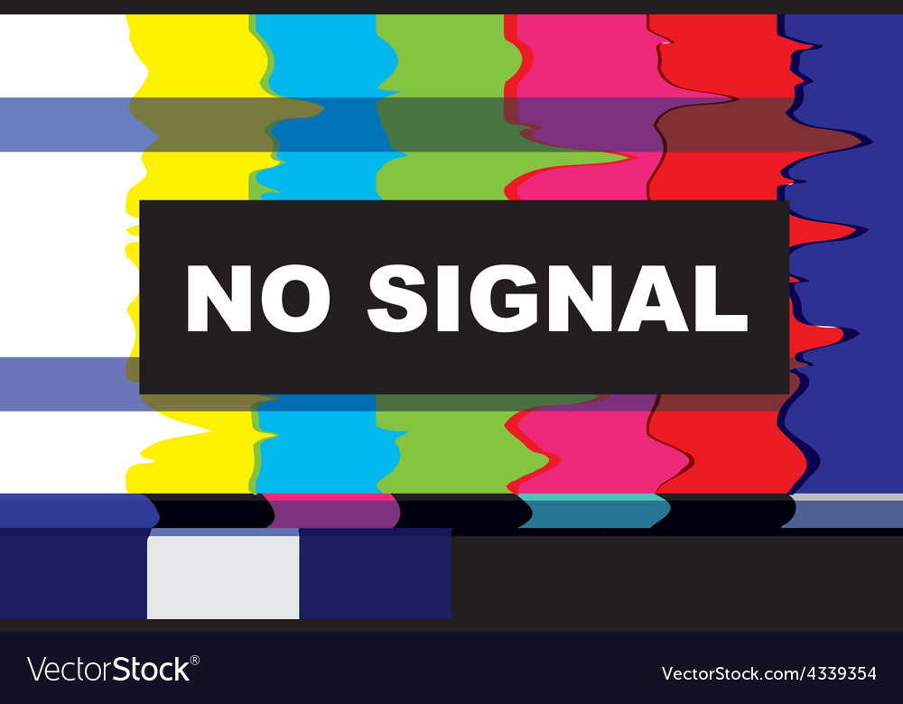 Tv no signal vector | Price: 1 Credit (USD $1)