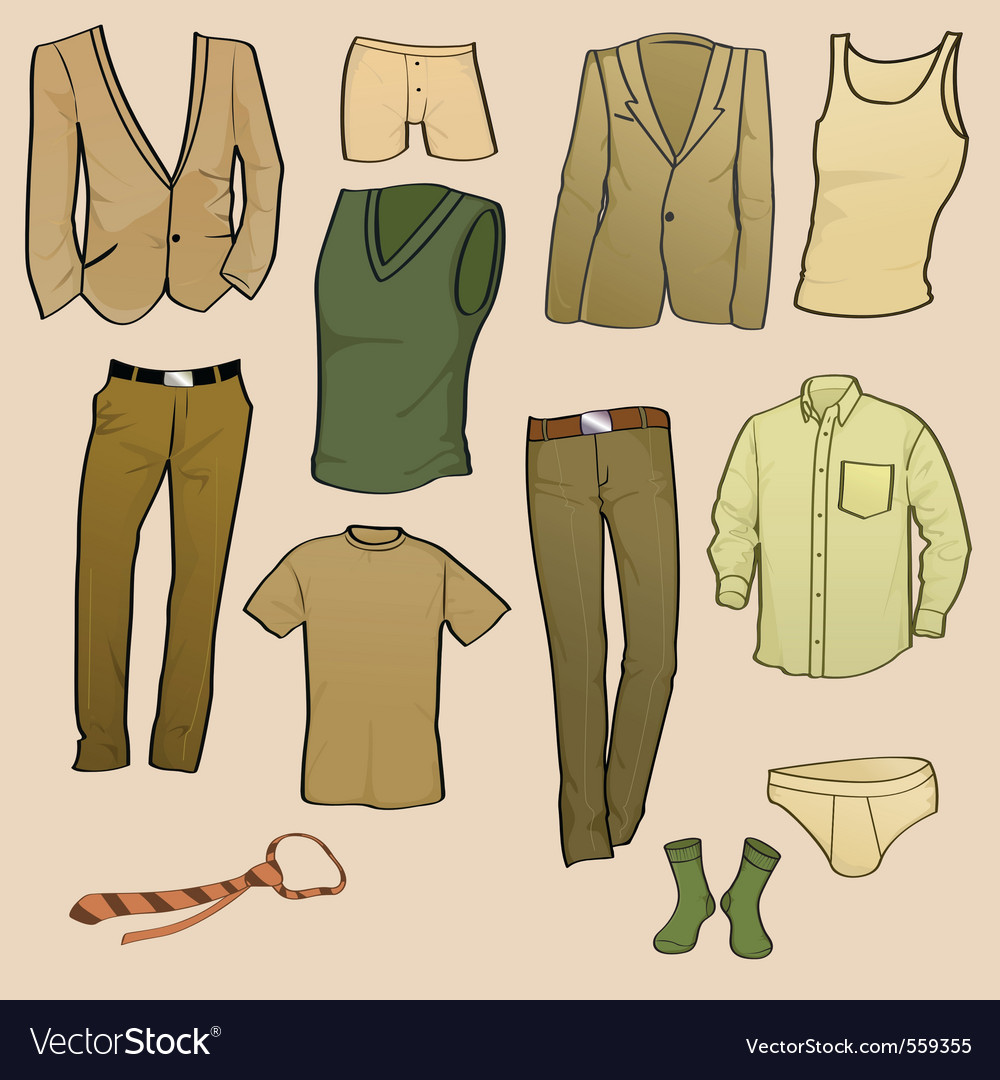 Clothes icon set vector | Price: 1 Credit (USD $1)