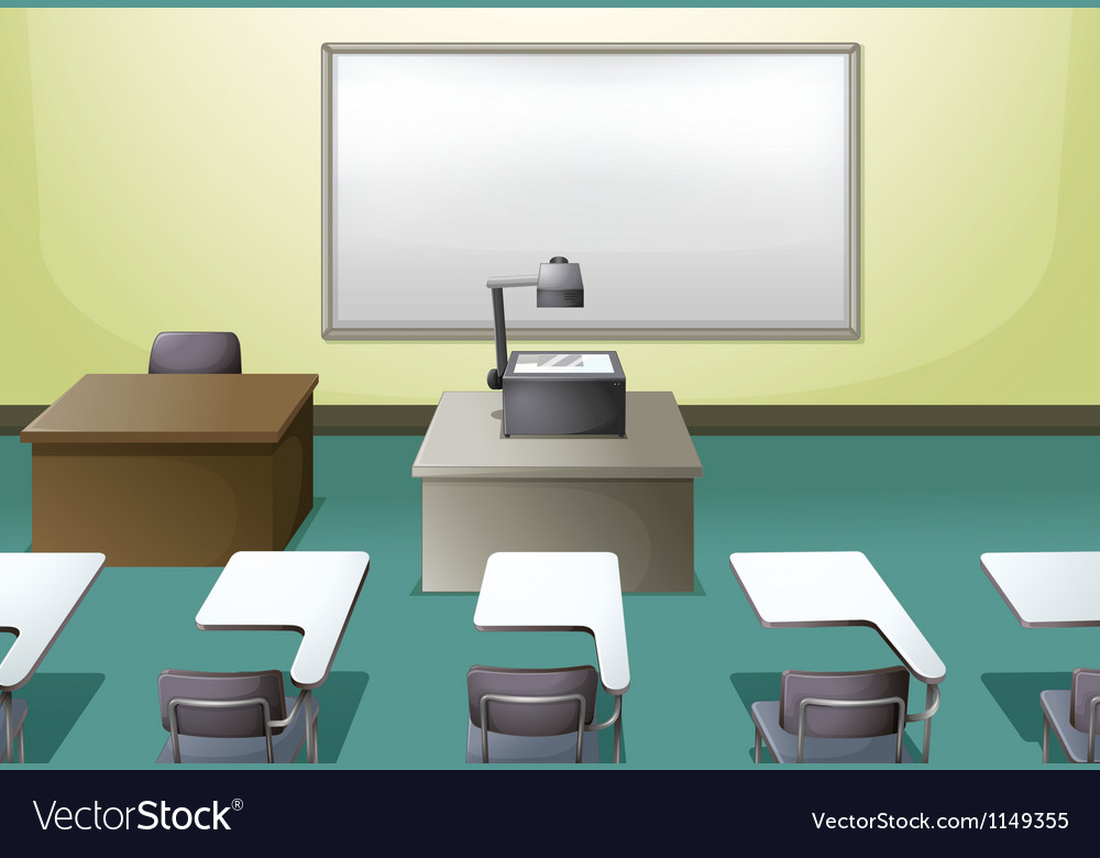 College classroom vector | Price: 1 Credit (USD $1)