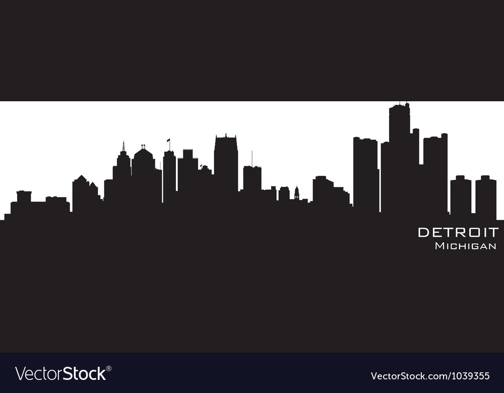 Detroit michigan skyline vector | Price: 1 Credit (USD $1)
