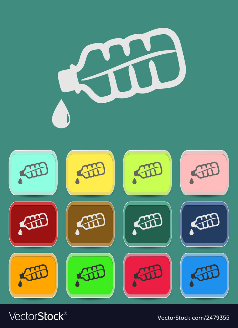 Drop bottle icon vector | Price: 1 Credit (USD $1)