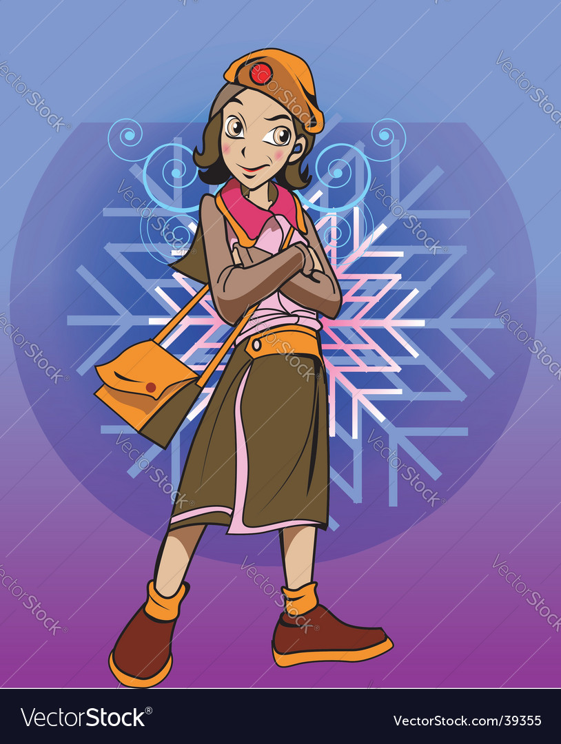 Girl character vector | Price: 3 Credit (USD $3)