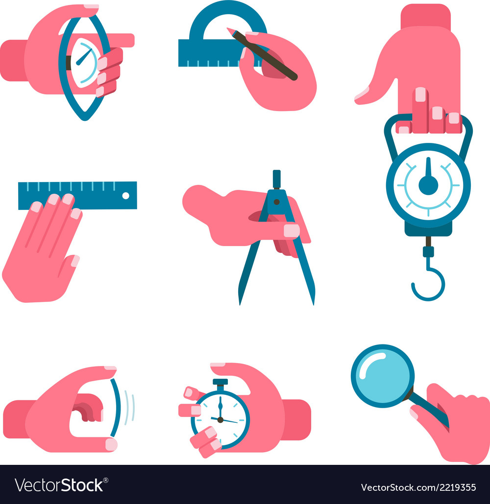 Hand-held measurement tools vector | Price: 1 Credit (USD $1)