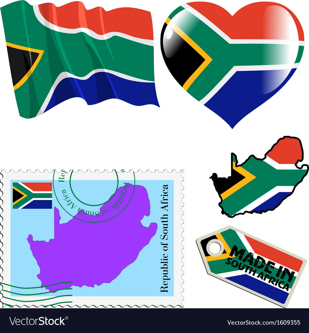 National colours of south africa vector   Price: 1 Credit (USD $1)