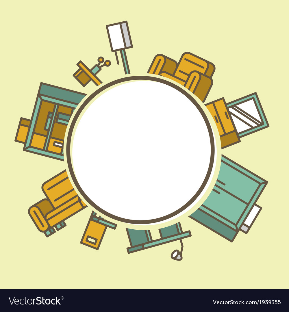 Pile of furniture vector | Price: 1 Credit (USD $1)