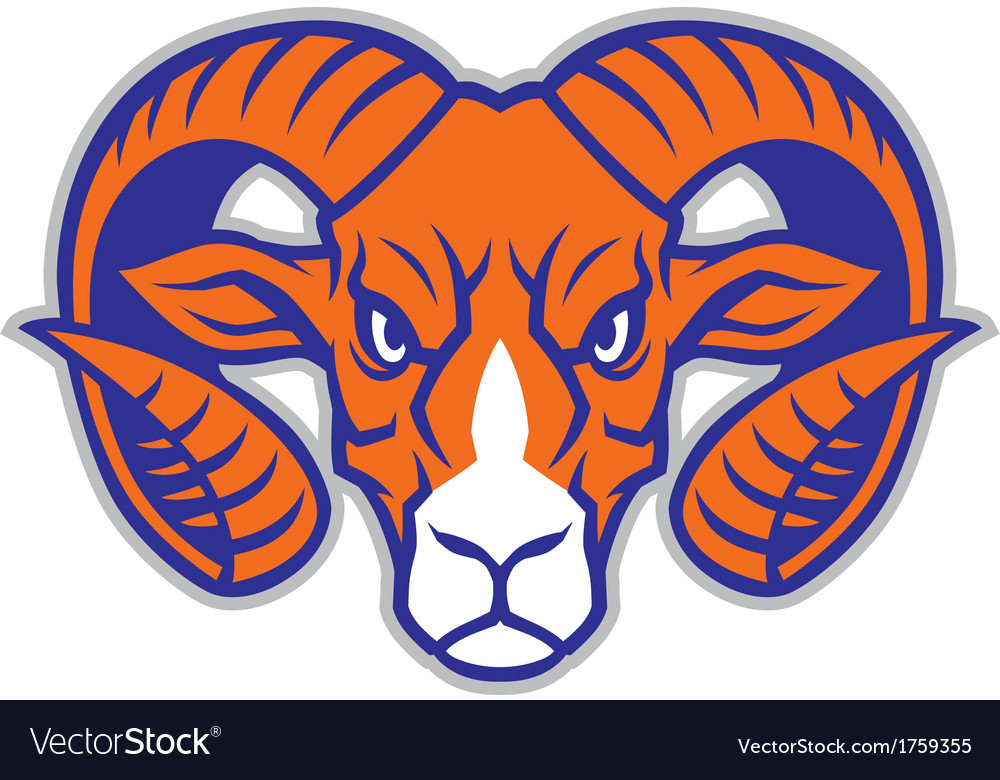 Ram head mascot vector | Price: 1 Credit (USD $1)