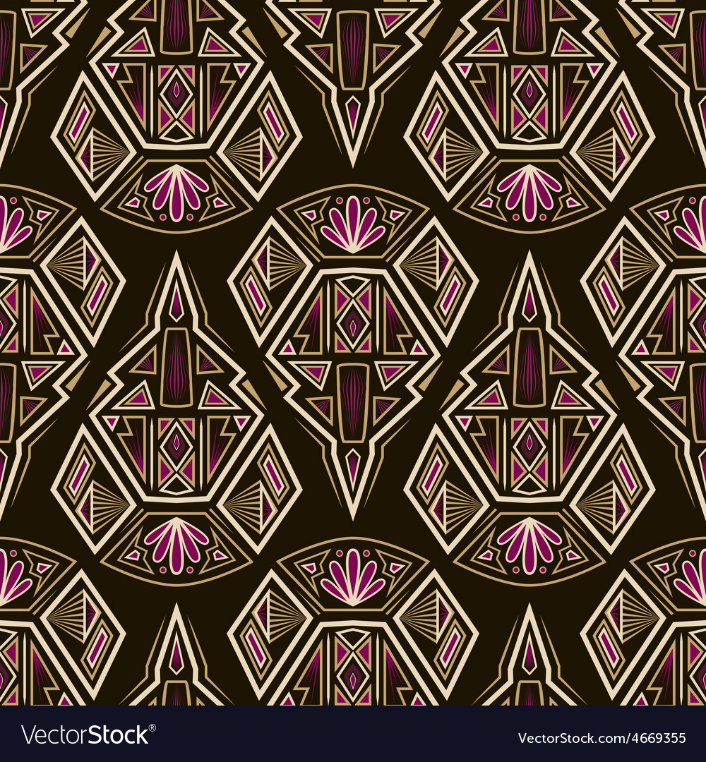 Seamless antique aztec pattern ornament vector | Price: 1 Credit (USD $1)
