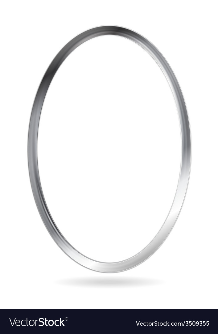 Steel metal ellipse frame border vector | Price: 1 Credit (USD $1)