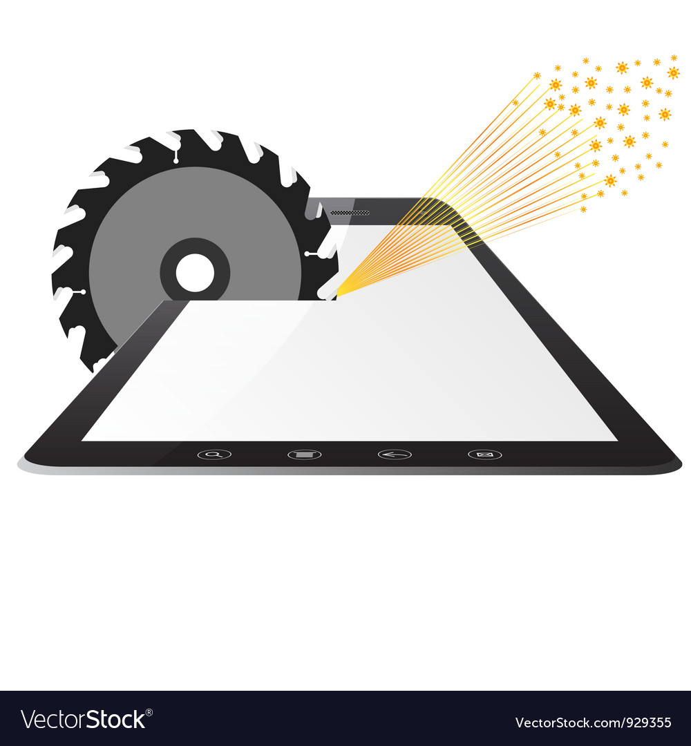 Tablet pc computer vector | Price: 3 Credit (USD $3)