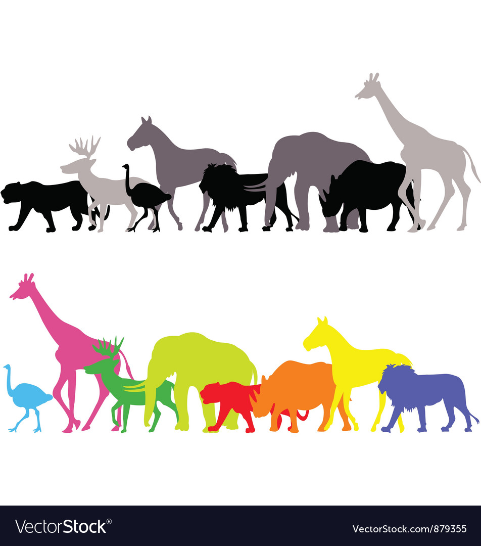 Wild animal silhouette vector | Price: 1 Credit (USD $1)