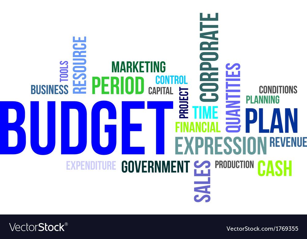 Word cloud budget vector | Price: 1 Credit (USD $1)