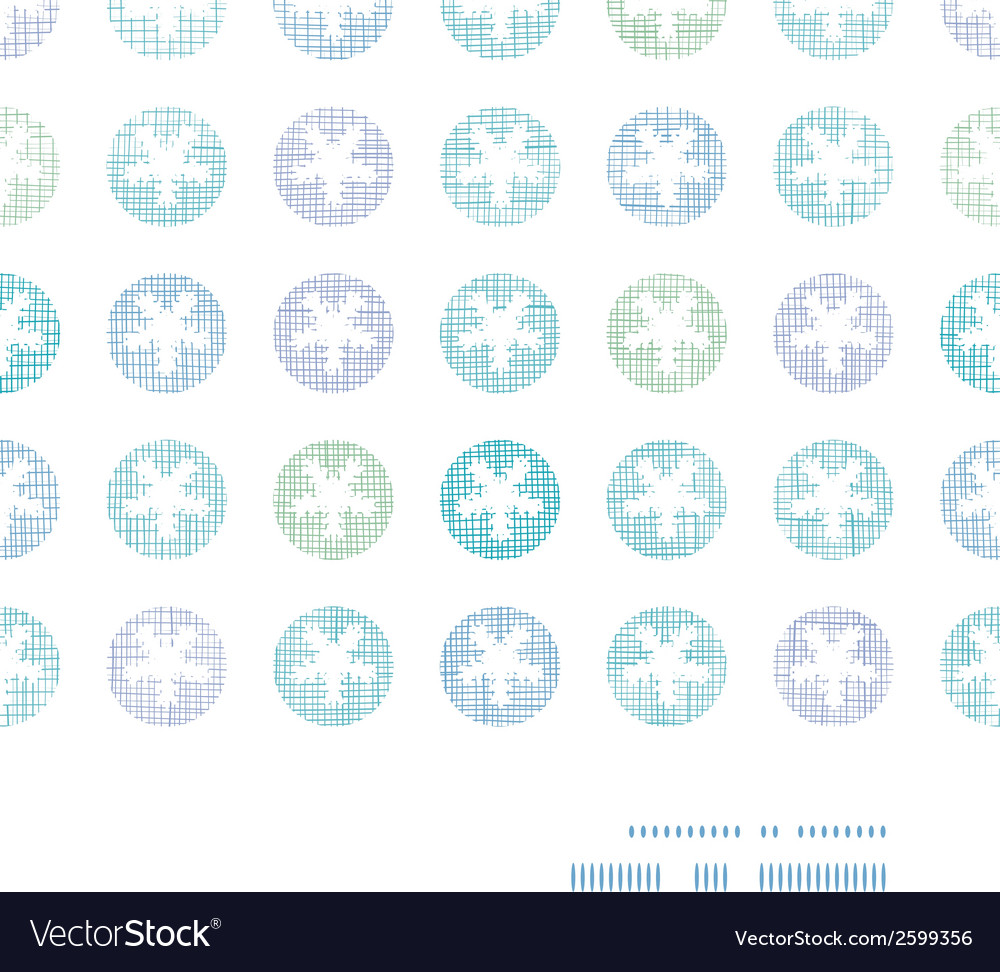 Abstract textile snowflakes dots horizontal frame vector | Price: 1 Credit (USD $1)