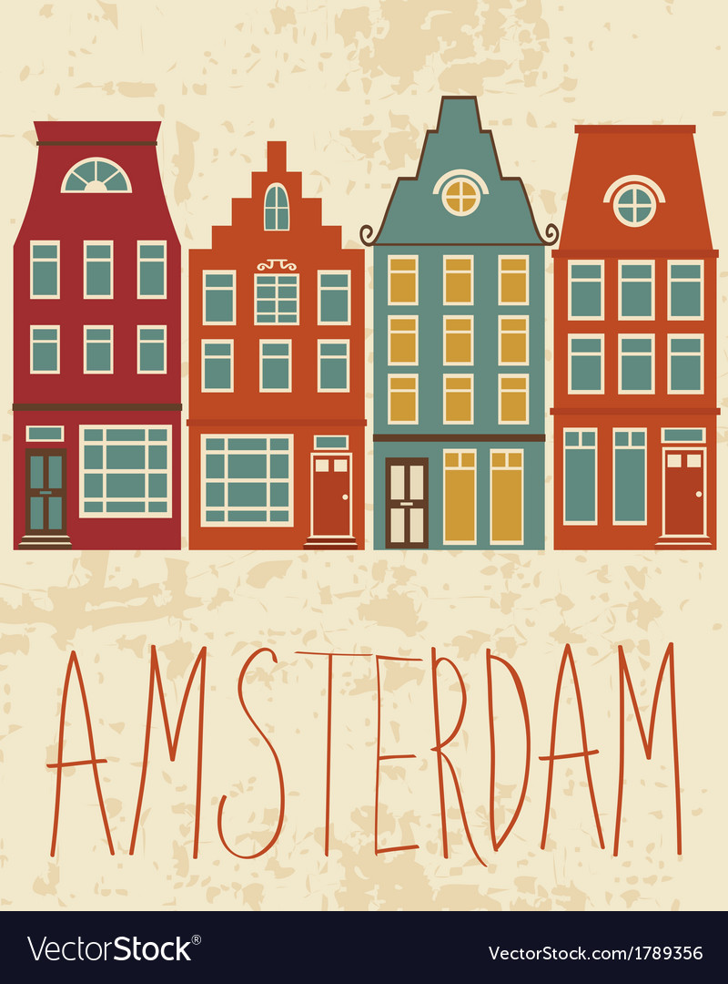 Amsterdam city vector | Price: 1 Credit (USD $1)