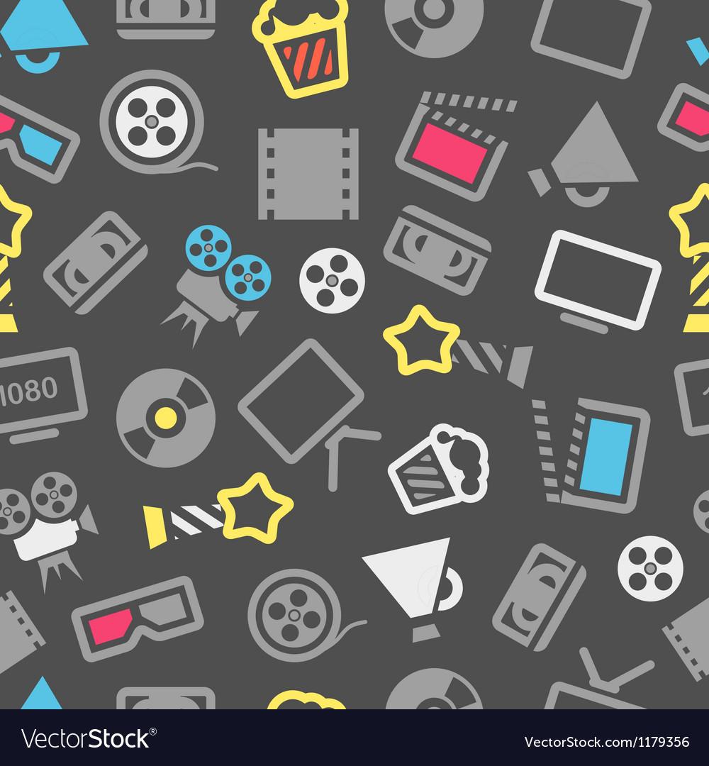 Cinema pattern vector | Price: 1 Credit (USD $1)
