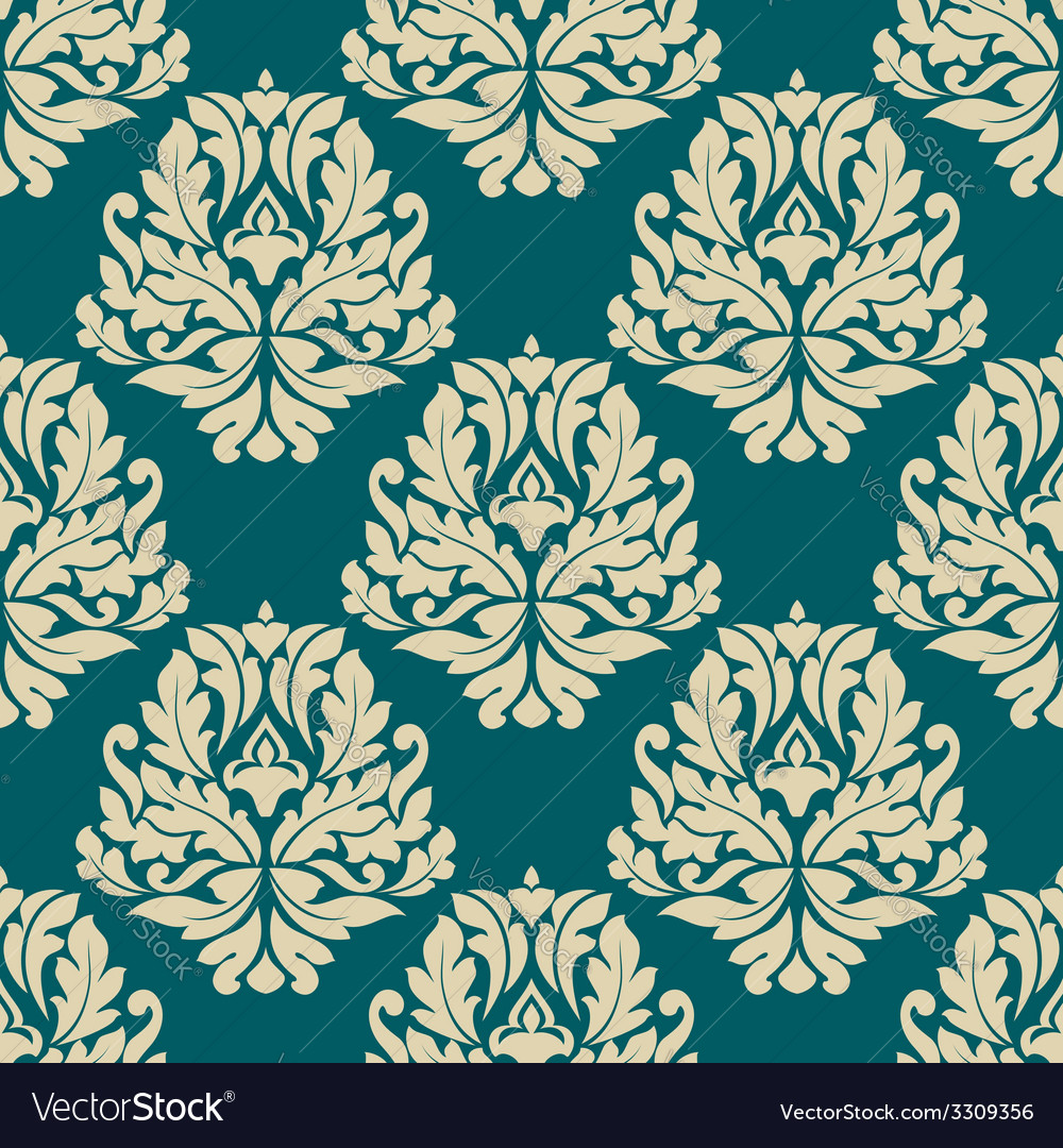 Dainty damask style seamless pattern vector   Price: 1 Credit (USD $1)