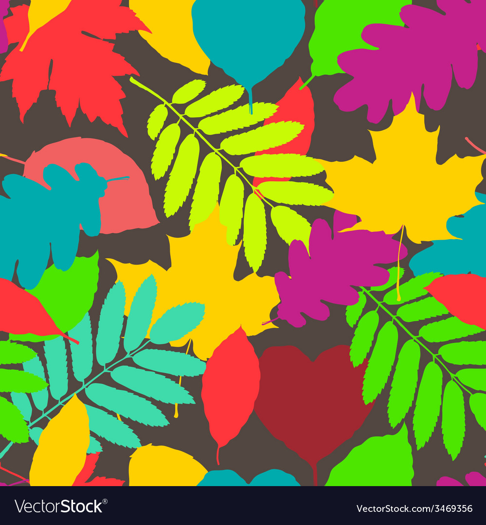 Fall pattern seamless background of autumnal vector | Price: 1 Credit (USD $1)