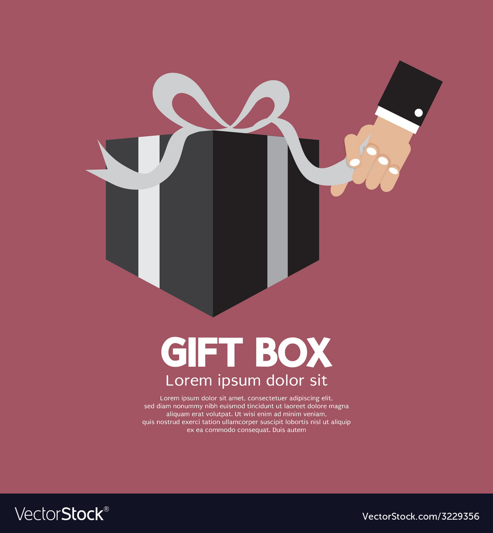 Gift box unboxing vector | Price: 1 Credit (USD $1)
