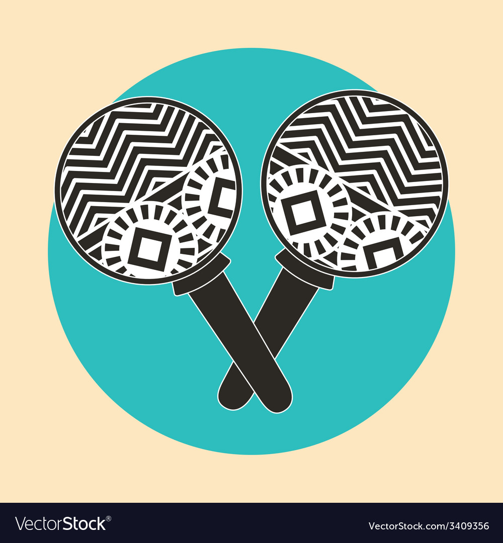 Maracas design vector | Price: 1 Credit (USD $1)