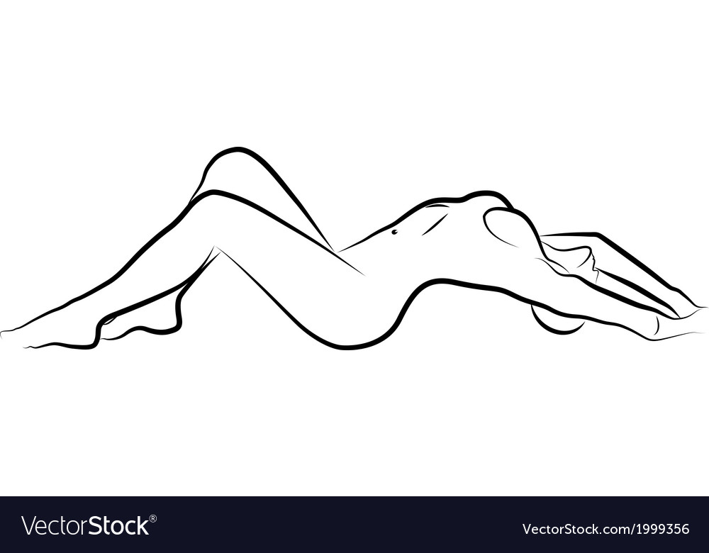 Naked woman vector | Price: 1 Credit (USD $1)
