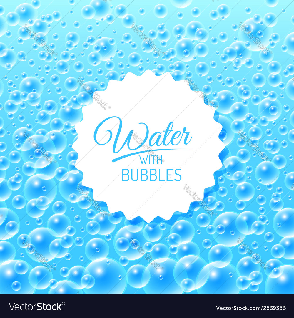 Water background with bubbles vector | Price: 1 Credit (USD $1)