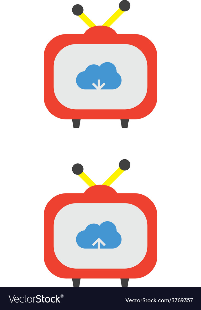 Cloud download and upload icon 36 vector | Price: 1 Credit (USD $1)