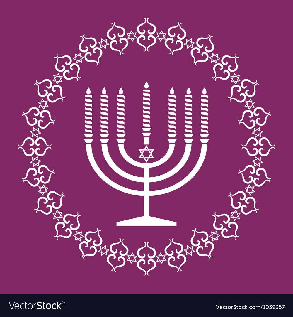 Jewish menorah holiday background vector | Price: 1 Credit (USD $1)