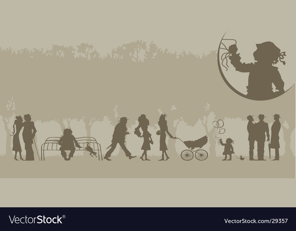 Shadows of the past vector | Price: 1 Credit (USD $1)