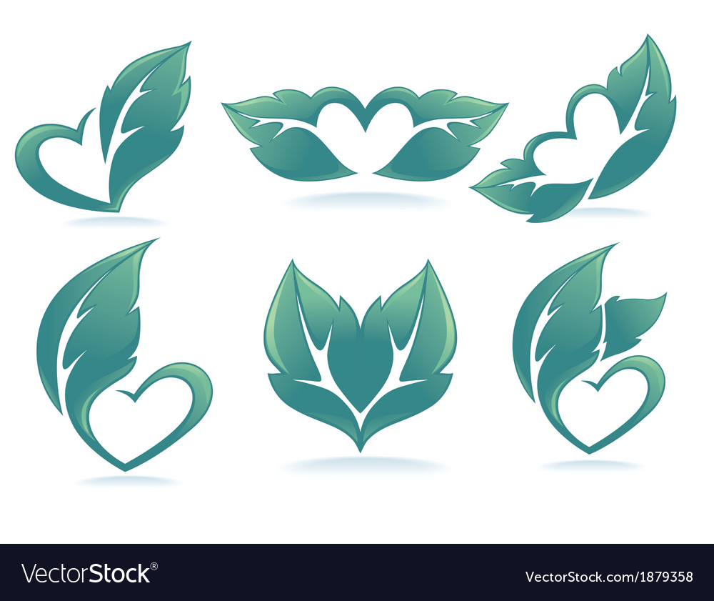 Eco hearts vector | Price: 1 Credit (USD $1)