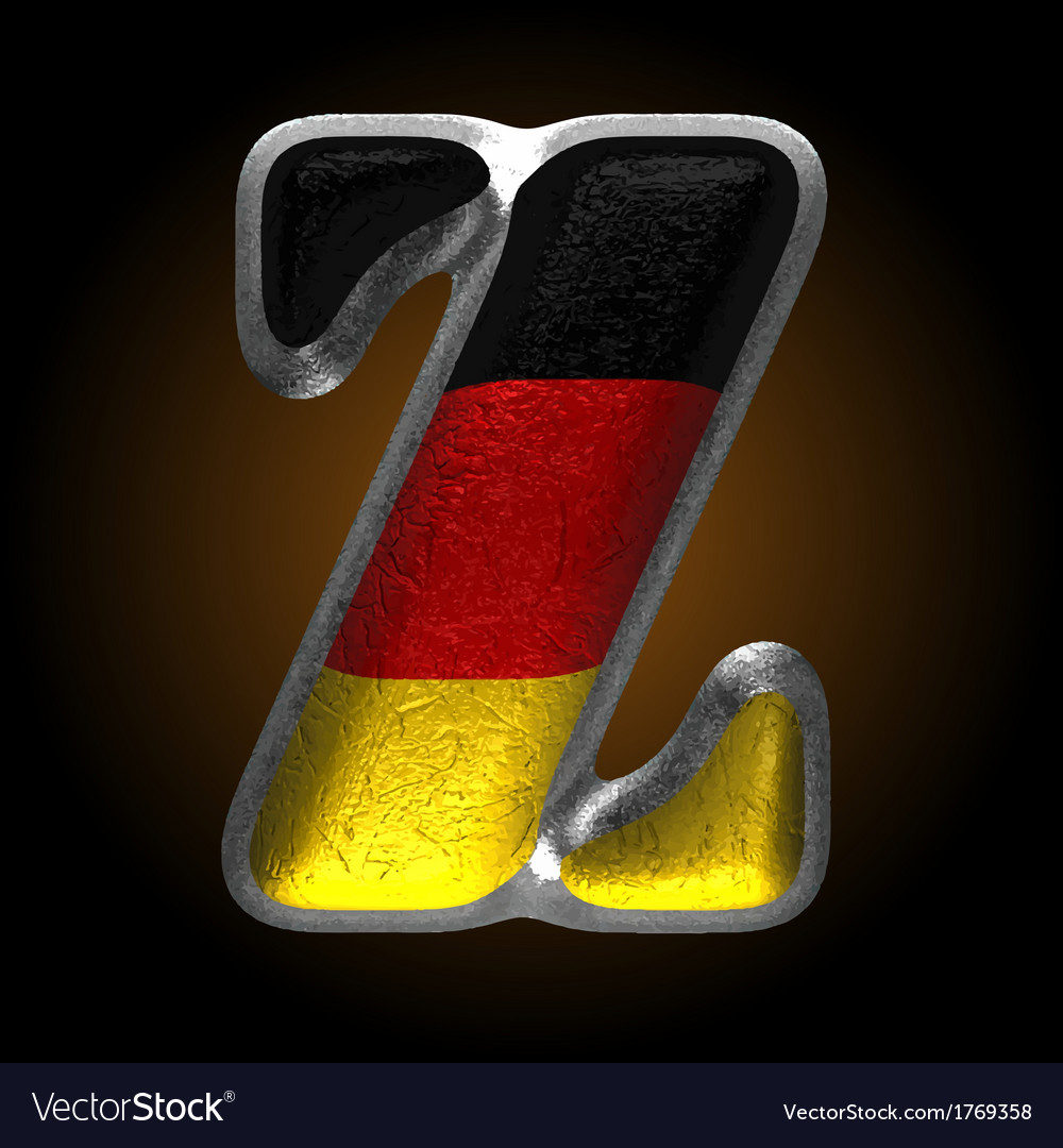 Germany metal figure z vector | Price: 1 Credit (USD $1)