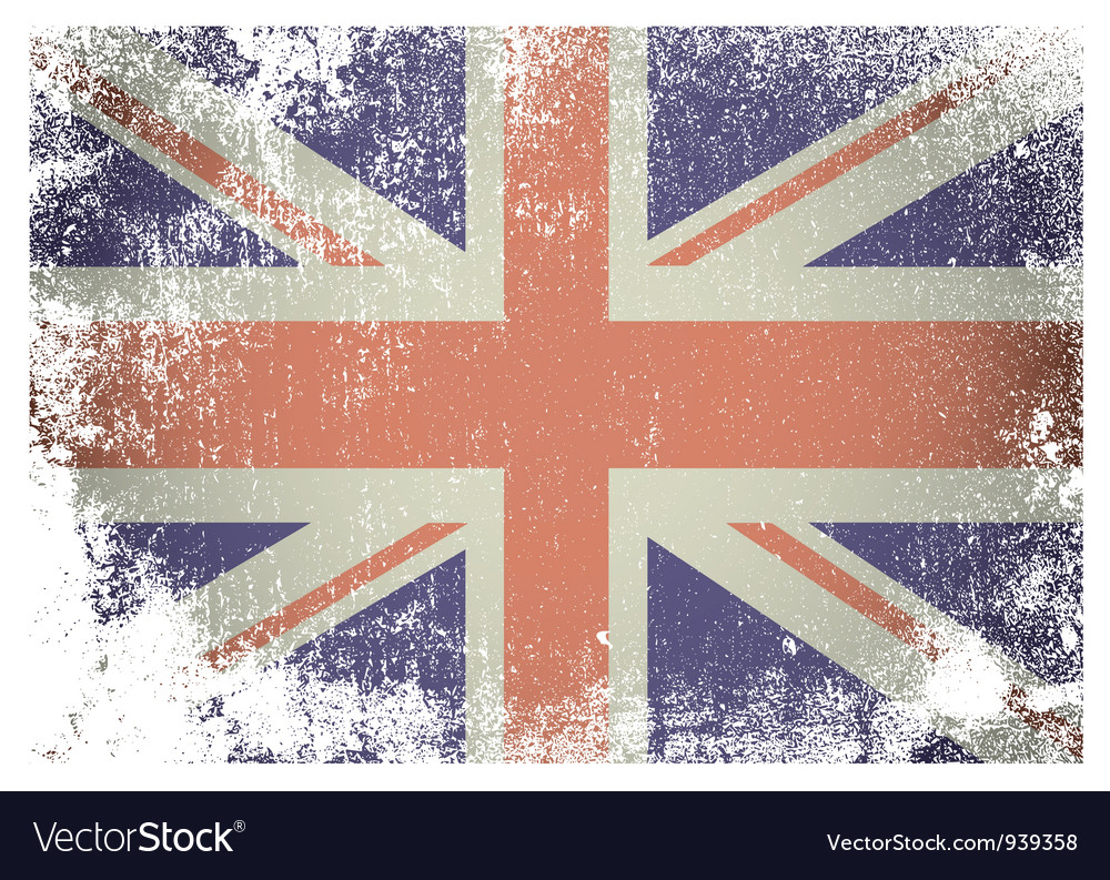 Grunge british flag vector | Price: 1 Credit (USD $1)