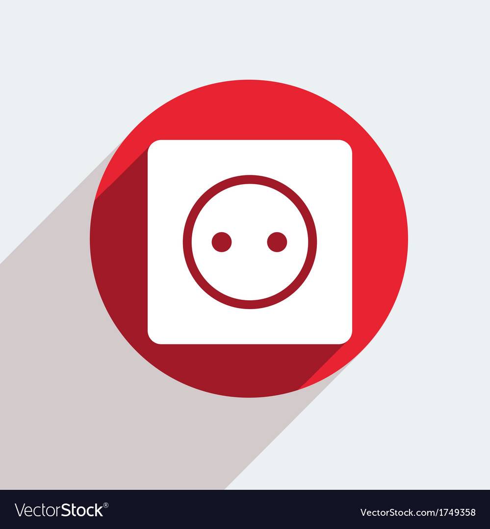 Red circle icon on gray background eps10 vector | Price: 1 Credit (USD $1)