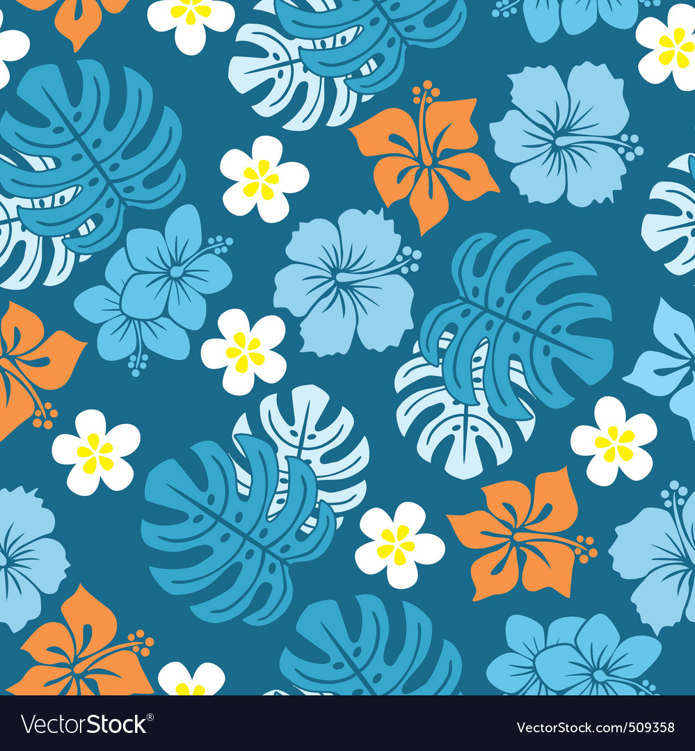 Seamless tropical pattern vector | Price: 1 Credit (USD $1)
