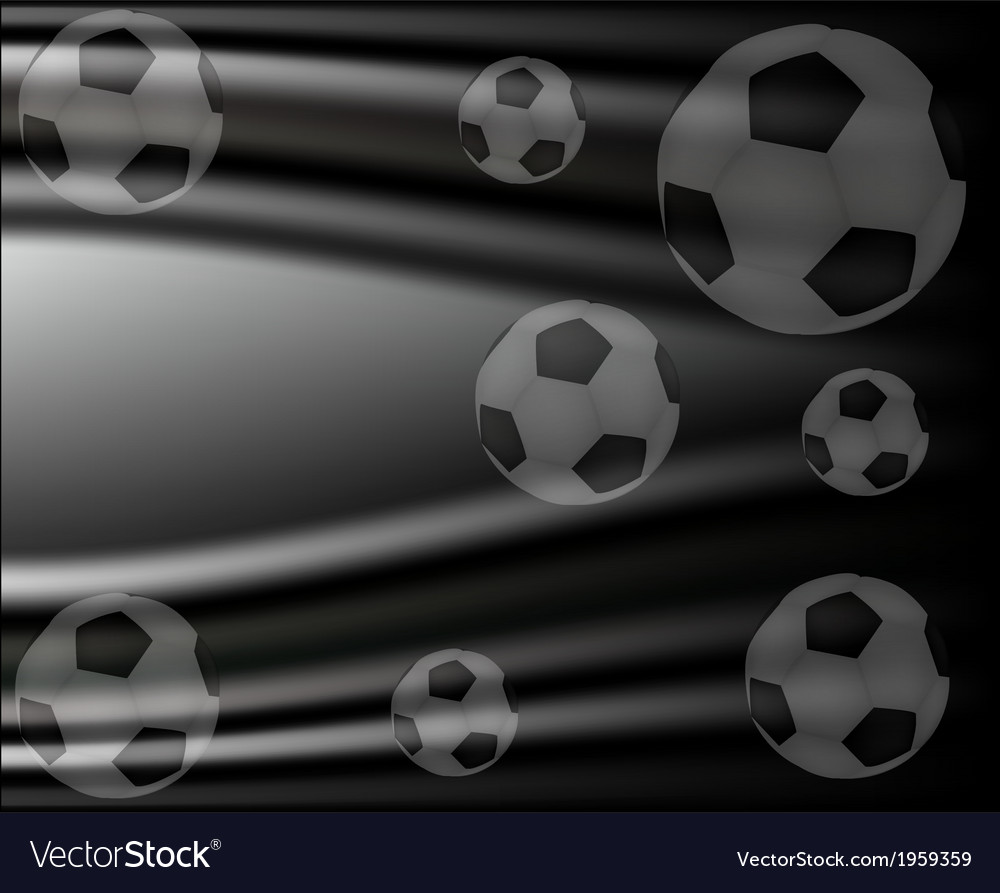 Background with a soccer ball vector | Price: 1 Credit (USD $1)