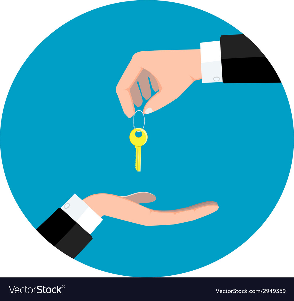 Hand giving key vector | Price: 1 Credit (USD $1)