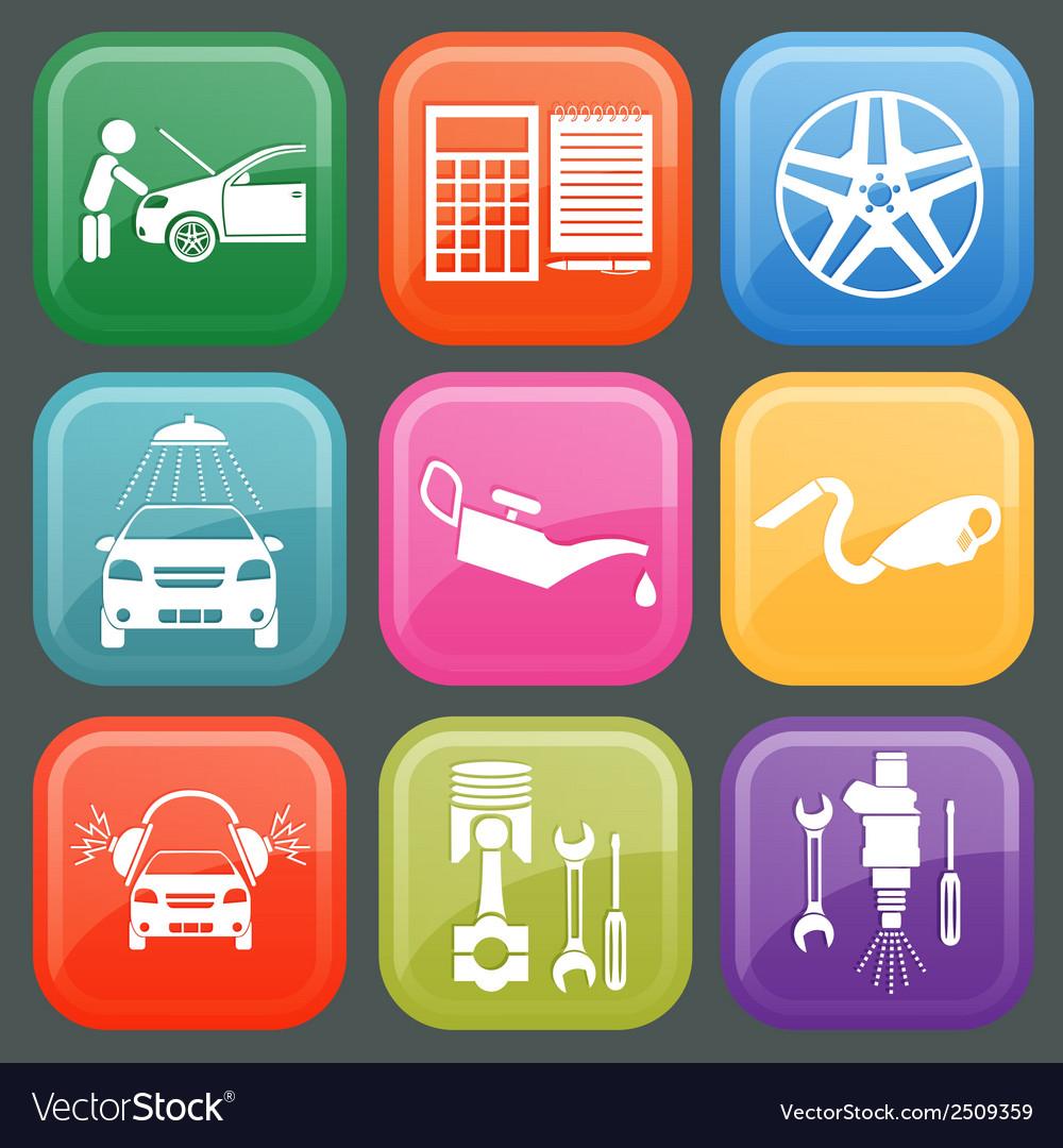Icon car service 5 vector | Price: 1 Credit (USD $1)