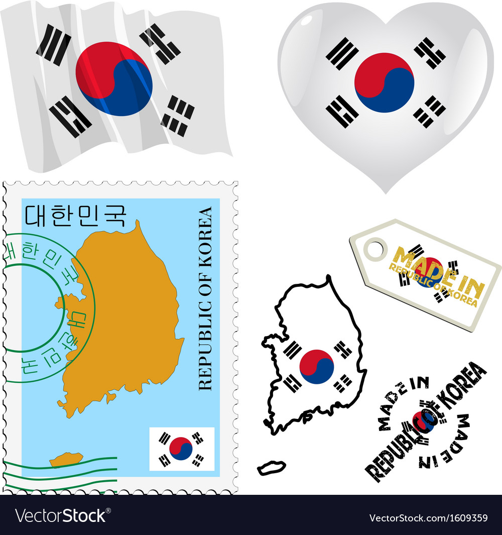 National colours of south korea vector   Price: 1 Credit (USD $1)