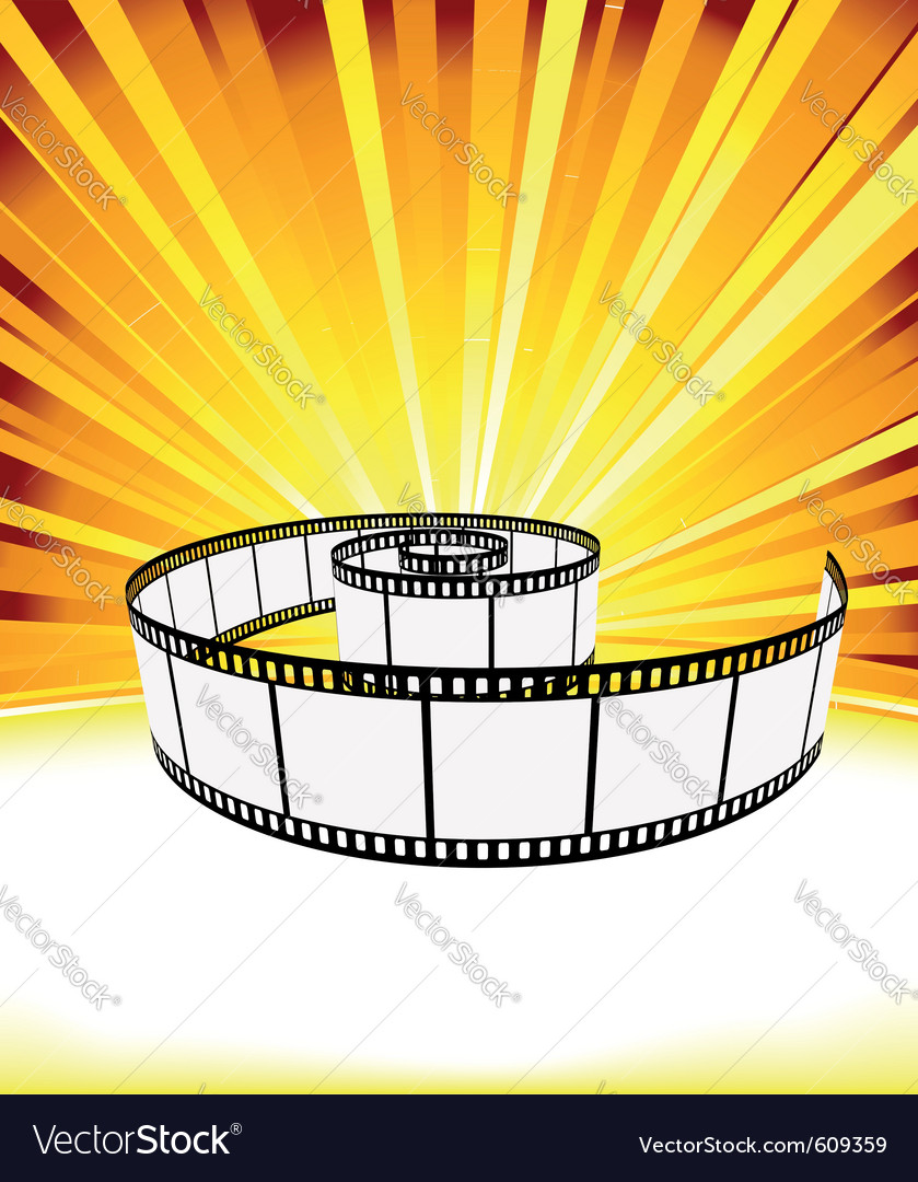Ray background with film strip vector | Price: 1 Credit (USD $1)